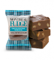 Chocolate fudge with nuts