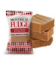 Creamy butter fudge with maple syrup
